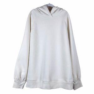 Gap Kids White Fleece Lined Hooded Sweatshirt